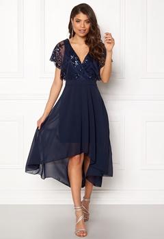 AX Paris Batwing Sequin Top Dress Navy Bubbleroom.no