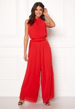 AX Paris Blouson Pleated Jumpsuit Red Bubbleroom.no