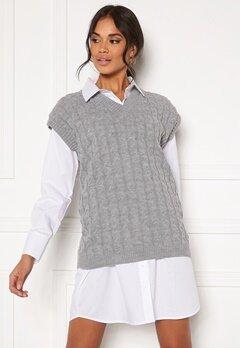 AX Paris Cable Knit Tank Top Grey Bubbleroom.no