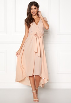 AX Paris Cap Waterfall Dress Nude Bubbleroom.no