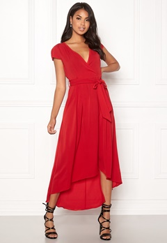 AX Paris Cap Waterfall Dress Red Bubbleroom.no