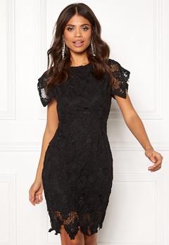 AX Paris Crochet Midi Dress Black Bubbleroom.no