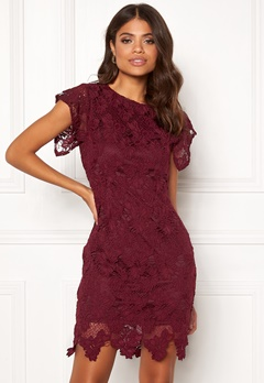 AX Paris Crochet Midi Dress Plum Bubbleroom.no