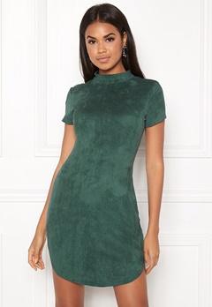 AX Paris Faux Suede Mini Dress Green Bubbleroom.no