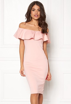 AX Paris Off the Shoulder Dress Pink Bubbleroom.no