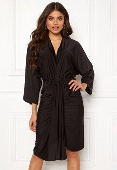 AX Paris Deep V Drape Midi Dress Black Bubbleroom.no