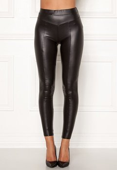 AX Paris Faux Leather PU Leggings Black Bubbleroom.no