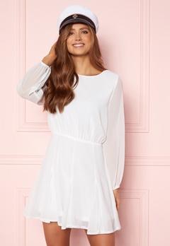 AX Paris Flippy Skater Dress White Bubbleroom.no