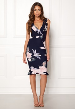 AX Paris Floral Bodycon Dress Navy Bubbleroom.no