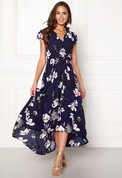 AX Paris Floral Cap Sleeve Dress Navy Bubbleroom.no
