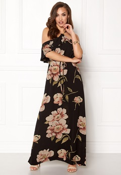 AX Paris Floral Cold Shoulder Maxi Black Bubbleroom.no