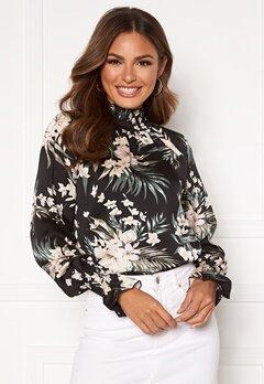 AX Paris Floral High neck blouse Black Bubbleroom.no