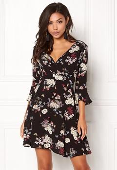 AX Paris Floral Print Dress Black Bubbleroom.no