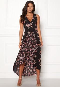 AX Paris Floral V Neck Maxi Dress Black Bubbleroom.no