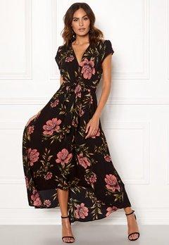 AX Paris Floral Waterfall Dress Black Bubbleroom.no