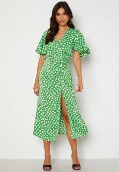 AX Paris Heart Print Midi Dress Green bubbleroom.no