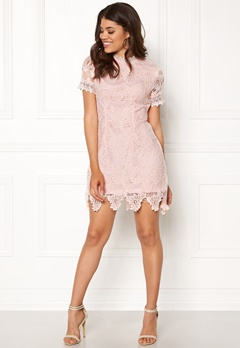 AX Paris High Neck Lace Midi Dress Blush Bubbleroom.no