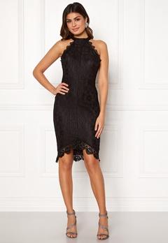 AX Paris High Neck Lace Midi Dress Black Bubbleroom.no