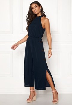 AX Paris Highneck Culotte Jumpsuit Navy Bubbleroom.no