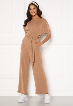 AX Paris Knitted Jumpsuit Camel Bubbleroom.no