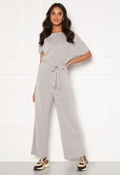 AX Paris Knitted Jumpsuit Grey Bubbleroom.no
