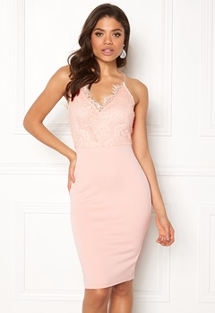 AX Paris Lace Detail Midi Dress Pink Bubbleroom.no