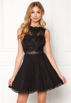 AX Paris Lace Top Skater Dress Black Bubbleroom.no