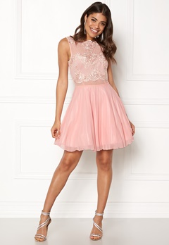 AX Paris Lace Top Skater Dress Nude Bubbleroom.no