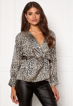 AX Paris Leopard Balloon Sleeve Blouse Multi Bubbleroom.no