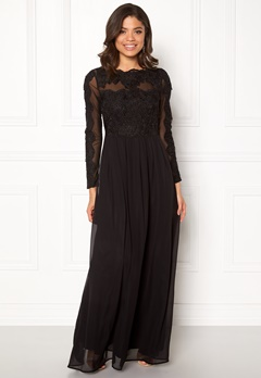 AX Paris Long Sleeve Lace Maxi Black Bubbleroom.no