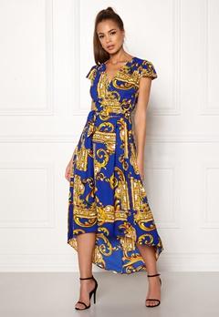 AX Paris Printed Cap Maxi Dress Royal Blue Bubbleroom.no