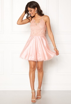 AX Paris Prom Lace Detail Dress Pink Bubbleroom.no