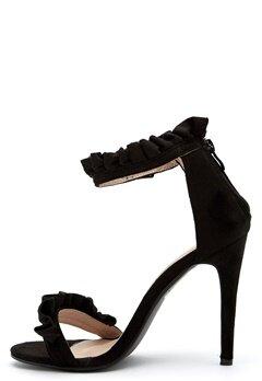 AX Paris Ruffle Detail Stiletto Black Faux Bubbleroom.no