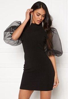 AX Paris Sheer Sleeve Dress Black Bubbleroom.no