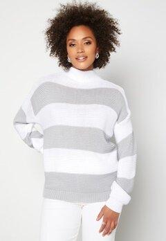 AX Paris Stripe Knitted Jumper Grey Bubbleroom.no