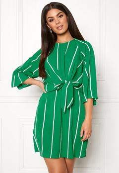 AX Paris Stripe Tie Sleeve Dress Green Bubbleroom.no