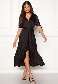 AX Paris Wrap Front Tie Dress Black Bubbleroom.no