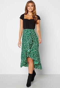 AX Paris Wrap Midi Dress Green bubbleroom.no
