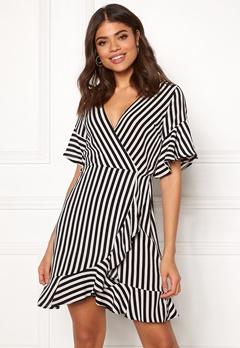AX Paris Strie Wrap Mini Dress Black Bubbleroom.no