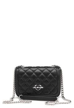 Love Moschino Bag With Chain 000 Black Bubbleroom.no