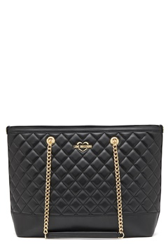 Love Moschino Bag With Chain 00B Black/Gold Bubbleroom.no