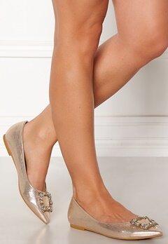 Francesco Milano Ballerina Raso Shoes Platino Bubbleroom.no