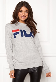 FILA Basic Classic Logo Sweat Light Grey Bubbleroom.no