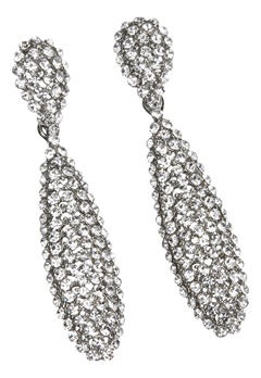 Love Rocks Batton Drop Earring Silver Colour Bubbleroom.no