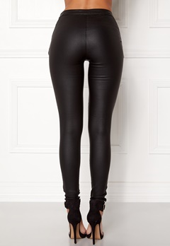 OBJECT Belle Coated Leggings Black Bubbleroom.no
