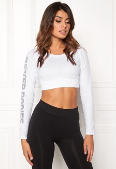 Better Bodies Bowery Cropped Long Sleeve White Bubbleroom.no
