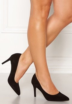 Bianco Cait Basic Suede Pumps Black Bubbleroom.no
