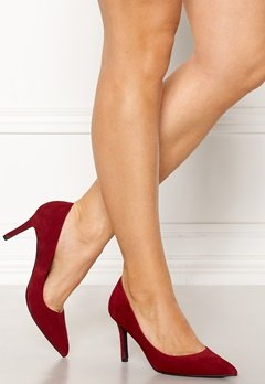 Bianco Cait Basic Suede Pumps Wine Bubbleroom.no
