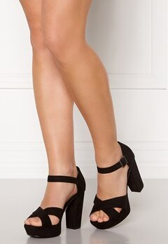 Bianco Carly Plateau Sandal 101 Black Bubbleroom.no