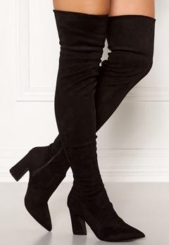 Bianco Carter Overknee Boots Black Bubbleroom.no